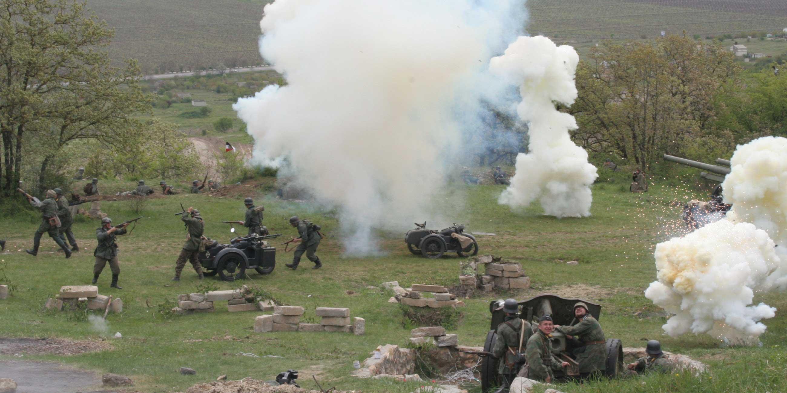 Сейчас на Сапун-горе часто проходят военно-исторические реконструкцииФото: globallookpress.com