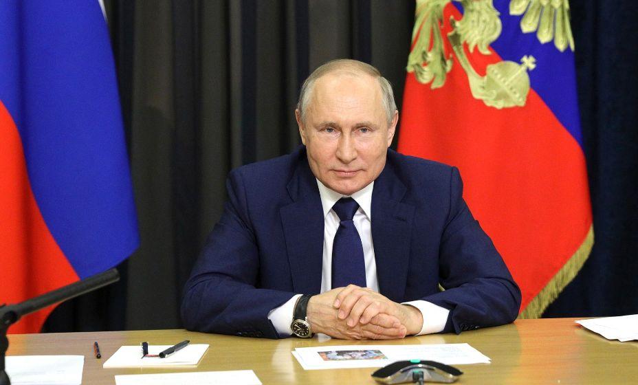 Владимир Путин обратился к участникам конгресса Международной федерации хоккея. Фото: Global Look Press