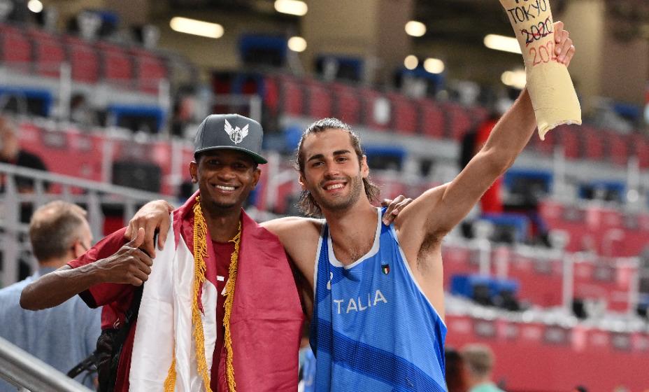 Катарец Мутаз Баршим и итальянец Джанмарко Тамбери стали олимпийскими чемпионами Игр в прыжках в высоту впервые в истории. Фото: Global Press Look