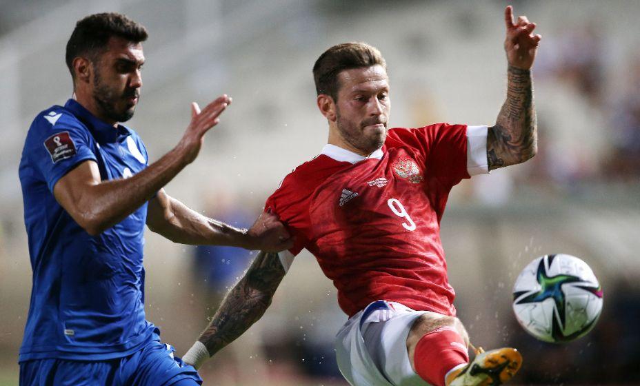Герой матча с киприотами Федор Смолов может стать капитаном на матч с Мальтой. Фото: Reuters