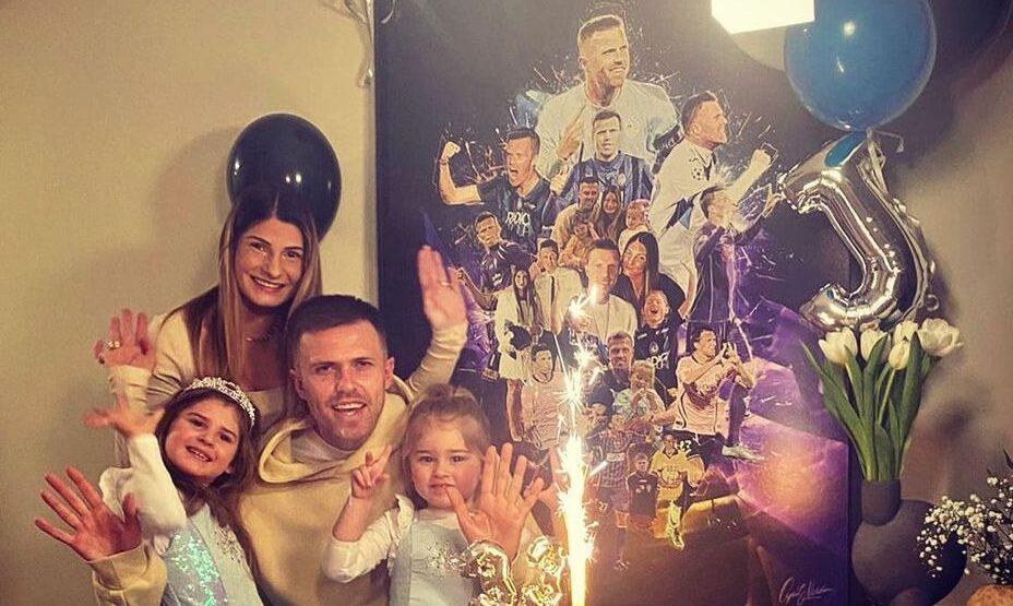 Йосип Иличич с семьей